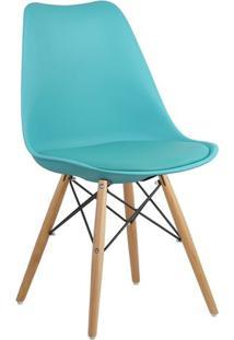 Cadeira Azul Tiffany Charles Eames Dsw Soft Wood Em Pp