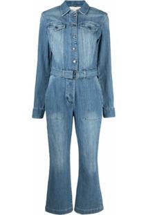 Michael Michael Kors Macacão Jeans Com Cinto - Azul