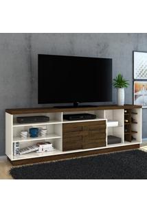 Rack Para Tv 1 Porta Carmem 502122 Off White/Savana - Madetec