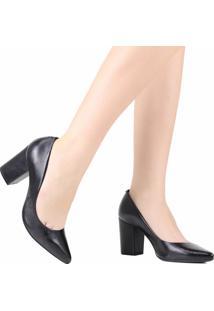 Sapato Scarpin Schutz Salto Grosso Preto