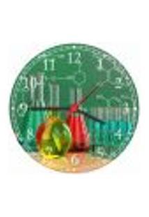 Relógio De Parede Ciências Química Laboratório Farmácias Biologia Quartz Decorações