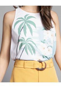 Shorts Cintura Alta Com Cinto Amarelo Caramelo - Lez A Lez