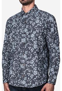 Camisa Jeans Floral 200025