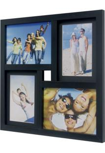 Painel De Fotos Fine 34X34 2 Fotos 10X15 E 2 Fotos 13X18 Preto Kapos