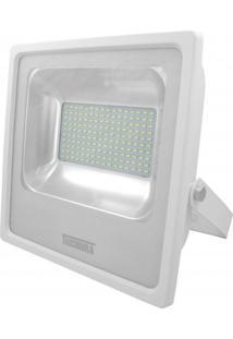 Refletor Led 100W Luz Amarela 3000K Taschibra Branco