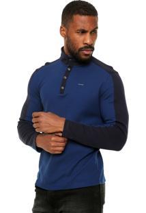 Blusa Calvin Klein Gola Alta Azul