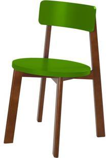 Cadeira Lina Cor Cacau Com Verde - 31541 - Sun House