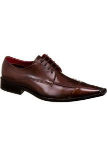 Sapato Social Malbork Em Couro - Masculino-Café