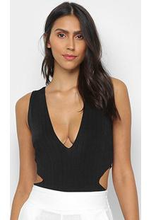 Body My Favorite Thing Sem Manga Com Cut Off - Feminino-Preto