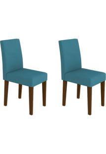 Conjunto Com 2 Cadeiras Giovana Castanho E Azul