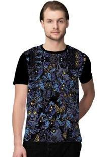 Camiseta Stompy Camouflage Masculina - Masculino-Preto