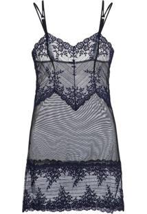 Camisola Curta Renda Embrace Lace Loungerie - Preto