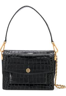 Tory Burch Textured Shoulder Bag - Preto