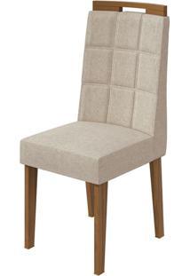 Cadeira Nevada Linho Rinzai Bege Rovere Naturale