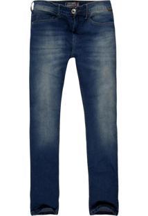 Calça Jeans Khelf Stretch Slim Fit Azul