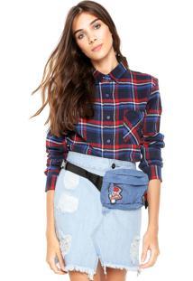 Camisa Fiveblu Xadrez Azul-Marinho/Vermelho