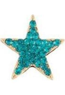 Broche Pin Armazém Rr Bijoux Estrela Turquesa