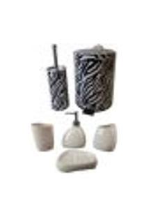 Kit Para Banheiro Com Lixeira Saboneteira Porta Escova - Deca R 02