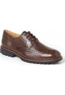 Sapato Social Derby Polo State - Masculino-Café