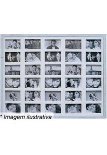 Painel Para 30 Fotos- Branco- 73X93X3Cmkapos