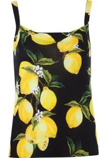 Dolce & Gabbana Blusa De Tricot Estampada - Preto