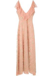 Lethicia Bronstein Vestido Longo Em Renda - Rosa