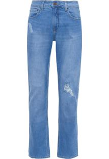 Calça Masculina Jeans Five Pockets Slim - Azul