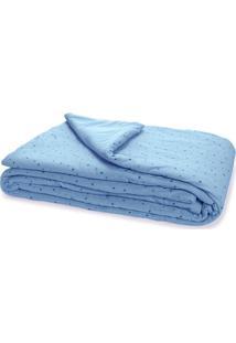 Edredom Estampado Estrelinhas Hug Azul - A2058