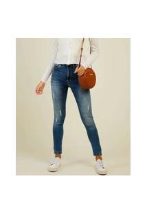 Calça Jeans Puídos Feminina Skinny Sawary
