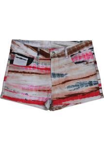 Shorts Versatti Tie Dye Rosa