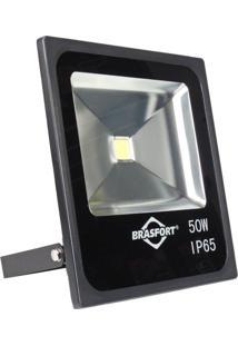 Refletor De Led Brasfort Silm 50W 6500K Ip65 Bivolt