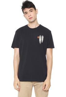 Camiseta Osklen Color Long Preta