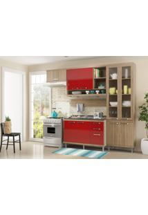 Cozinha Compacta Multimóveis Sicília 5816.132.694.815.610 Argila Vermelho Se