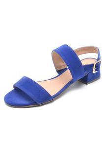 Sandália Via Uno Liso Azul