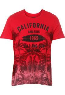 Camiseta Masculina Km - Vermelho