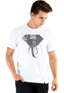 Camiseta Ouroboros Manga Curta Polygon Elephant - Masculino-Branco