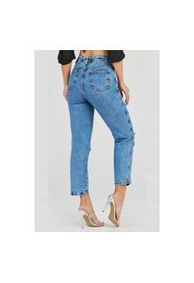Calça Jeans Levo Shop Mom Cenoura Royal Azul