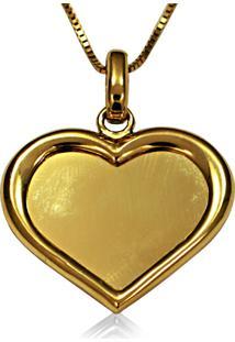 Pingente Em Ouro De Florzinha Com Zircônia - Pg19464