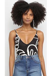 Body Farm Alcinha Maxi Costela - Feminino-Estampado