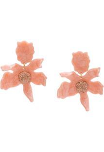 Lele Sadoughi Par De Brincos Floral - Rosa