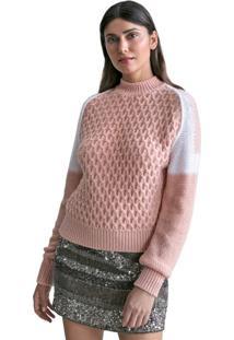 Blusa Feminina Biamar Malharia Rosa Claro - U