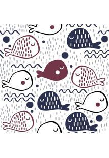 Papel De Parede Adesivo Desenhos De Peixes (0,58M X 2,50M)