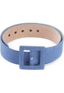 Martha Medeiros Cinto Jeans - Azul