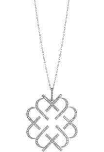 Pingente Em Ouro Branco 18K Com Diamante - Love