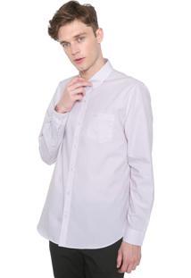 Camisa Lacoste Regular Listrada Laranja/Cinza