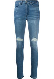 Dondup Calça Jeans Skinny Com Cintura Alta - Azul