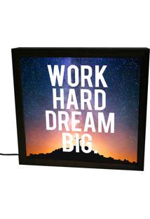 Luminária Prolab Gift Lightbox Dream Big Preta