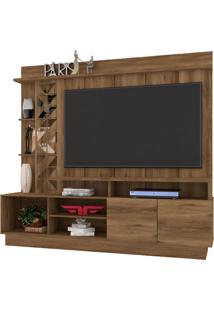 Estante Home Theater Para Tv Até 65 Polegadas Sala De Estar Vivaz Canela - Frade Movelaria