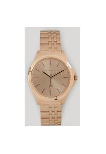 Relógio Analógico Lince Feminino - Lrr4428L R1Rx Rosê