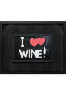 Quadro Porta-Rolhas Love Wine Preto